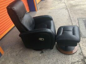 LAZY BOY Recliner High Back Swivel Armchair With Matching Foot Rest