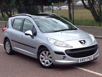 (57) Peugeot 207 S TD SW 1.6 diesel , mot - July 2017 , full history 8 stamps ,2 owners,astra,focus