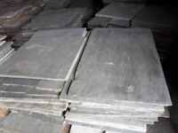 INDIAN STONE PAVING FLAGS IN KANDLA GREY - £20 PER SQUARE YARD .