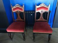Pair of Victorian Tulip Chairs