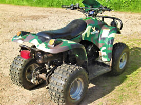 150cc fully auto camo quad mid size fully serviced ready to go