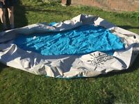 10ft pool been stored in shed, mice have chewed 3 holes, needs repairing