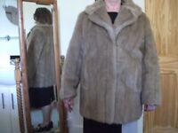 Vintage Light Brown Faux Fur Short Coat