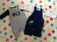 Mothercare M&S dungarees 0-3 months