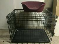 Medium to small size dog cage&bed