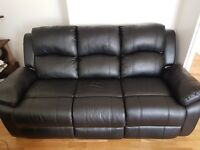 3 seater sofa and 2 recliner chairs (eco leather) £300 ono