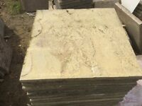 Reclaimed Buff Riven Paving Slabs 600x600