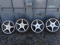 "17"" Woldrace multi fit alloys 4x100 / 4x108 ("