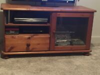 Pine entertainment/tv unit good condition local pick up only