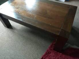 Dark brown living room table