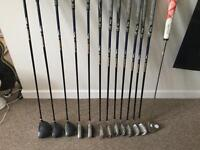 Full set of left handed Texan golf clubs