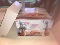 NEW Electric Halogen Oven & Extender Ring JML Gift Easy Cook Booklet BNIB RRP £60 6 Litre Large
