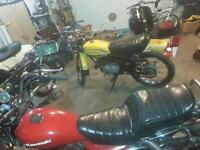 1973 rd 250 rebuilt engine  1972 g5 kawi 100 1980 ltd 250