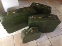 Set of 4 Crocodile skin suitcases