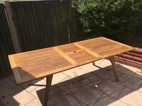 Hardwood garden table only
