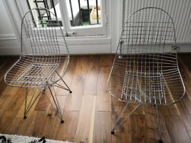 Two Mid Century Bertoia Chairs Available