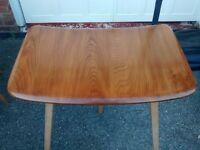 Ercol retro dining table and extension and chairs