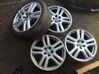 "Jaguar X TYPE ARUBA 18"" Alloy wheels 5X108 genuine"