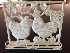 Laura Ashley chicken cook book stand