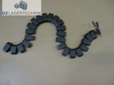 Kabelschlange mit 24 Segmenten schwarz Kabelkanal Kabelführungssystem