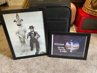 X2 framed Bowie pictures £3