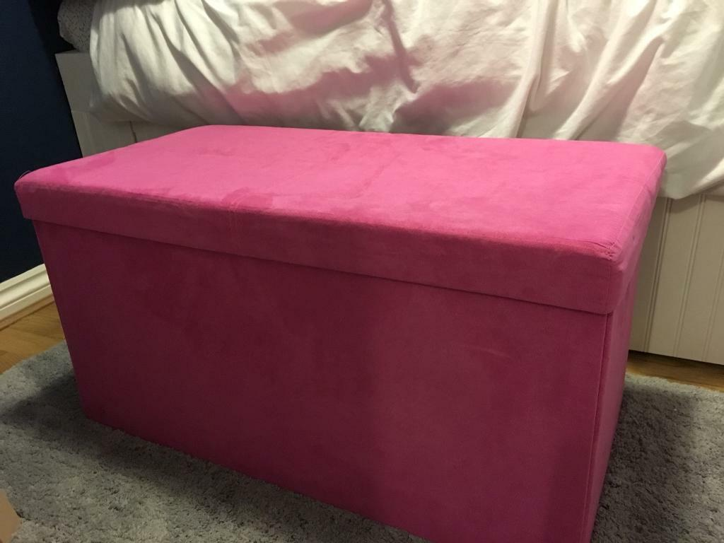 Pink storage box /seat