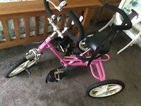 Girls pink special needs trike for ages 5-7 approx
