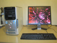 Dell tower setup. Quad-Core 2.40Ghz x 4. 4gb rams. win7. .. 19inch LCD. can deliver