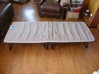 folding single camp bed