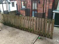 5 x fence panels and 2 x gates