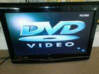 24 inch TV with built-in DVD player works 100% fine