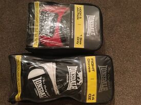 Lonsdale boxing gloves and punch pads