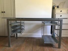 Glass steel desk