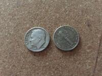 COLLECTABLES USA Silver One Dime 1942, 1964