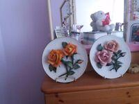 Capo de monte rose plates