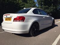 BMW 1-Series sport coupe white for sale!