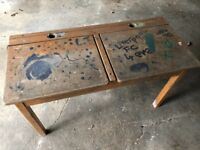 Old double school desk - great upcycling project
