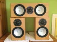 MONITOR AUDIO SILVER RX1 STAND MOUNT & SILVER RXC CENTRE SPEAKERS