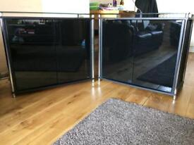 Two Hygena Matrix / home Sideboards