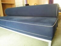 Blue Double Sofa Bed 202cm wide x 87cm deep x 73cm high