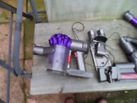 Dyson v6 Handheld cleaner with accessories