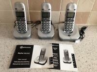 'Amplicomms Bigtel 200/201' telephones for the hard of hearing BT friendly set of 3