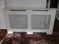 Large radiator cover, painted cream - good condition