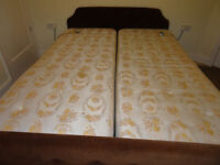 electric Bed and Mattress Super King(2 x 3ft Linked)VibratesLifts top and bottom 6ft Head/foot board