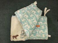 Baby Joules Cot Bumper (farm design)