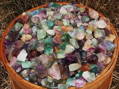 3000 Carat Lots of Unsearched Natural Flourite Rough + a FREE faceted gemstone