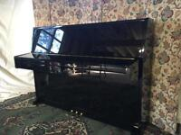 Modern compact upright piano - Steinbach 2008 - black - CAN DELIVER