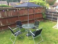 6 Piece Patio Set with Free Parasol Base