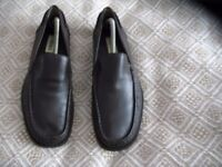 Men's leather dark brown K shoes size 10