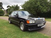 Mercedes 190e - Jet Black - Rare find for classic car lovers